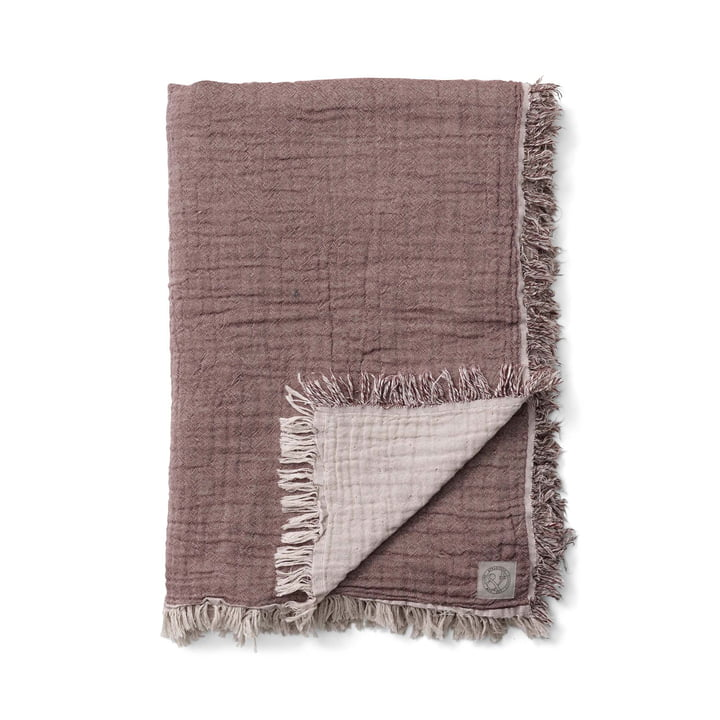 The Collect SC33 bedspread from & tradition in cloud / burgundy