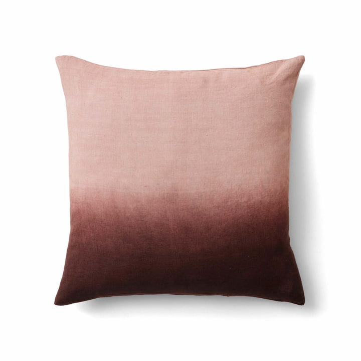 The Collect SC28 cushion linen from & tradition in cloud / burgundy / indigo