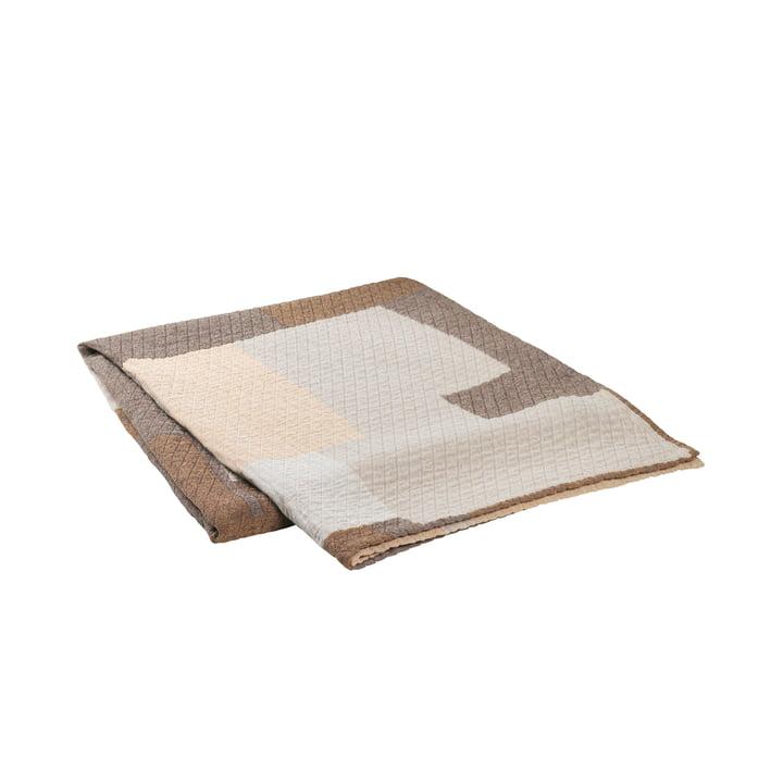 The Patch bedspread from Broste Copenhagen in beige / brown