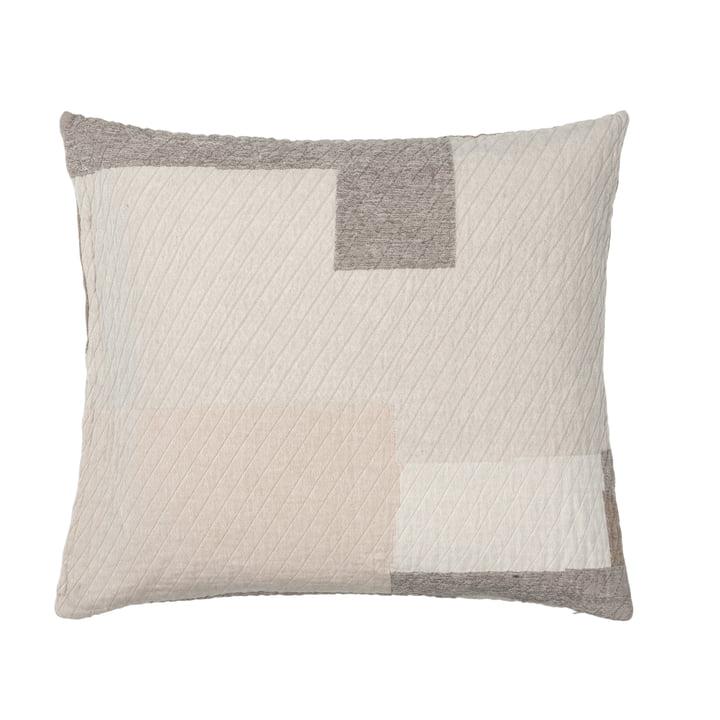 The Patch pillowcase from Broste Copenhagen in beige / brown