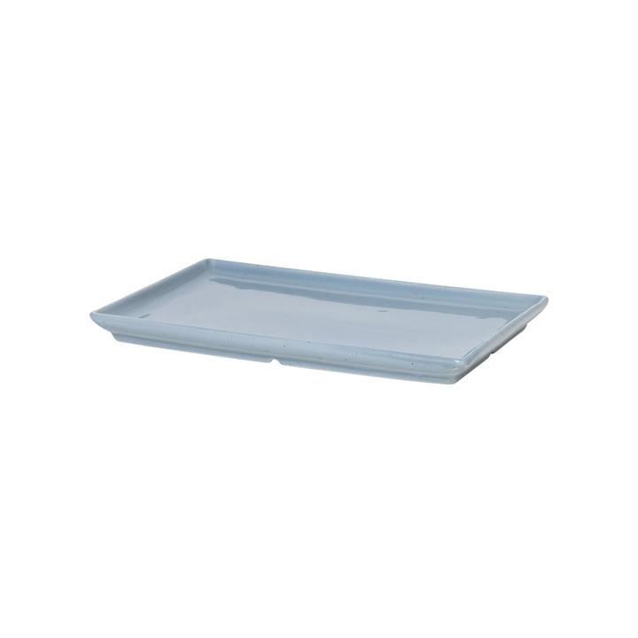 The Eli plate from Broste Copenhagen in soft blue