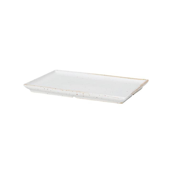 The Eli plate from Broste Copenhagen in soft light grey matt
