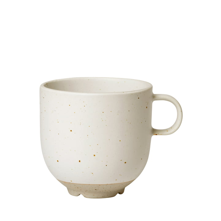The Eli cup with handle from Broste Copenhagen in soft light grey matt