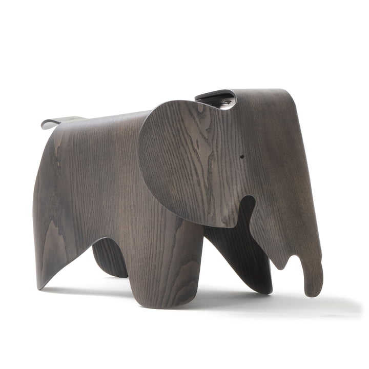 Eames Elephant Plywood, ash, stained grey (7 5. Anniversary Edition) by Vitra