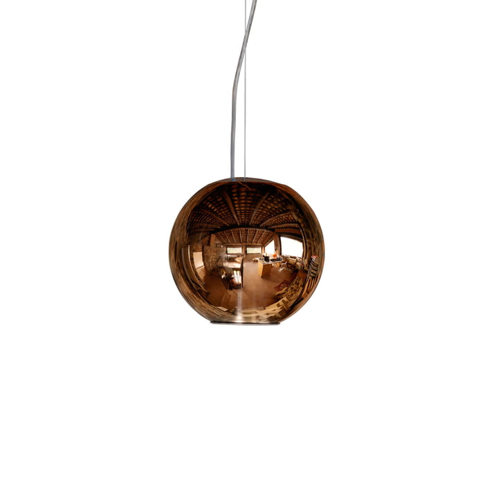 Globo di Luce Pendant Lamp ø 20 × 19 cm by FontanaArte in copper
