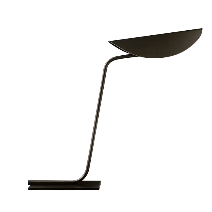 Plume table lamp, bronze by Oluce