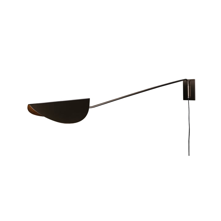 Plume wall lamp 80 cm, bronze by Oluce