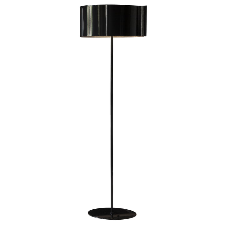 Switch Floor lamp, black by Oluce
