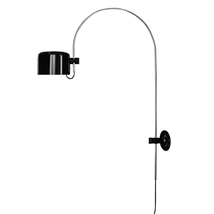 Coupé wall arch lamp 1158, black by Oluce