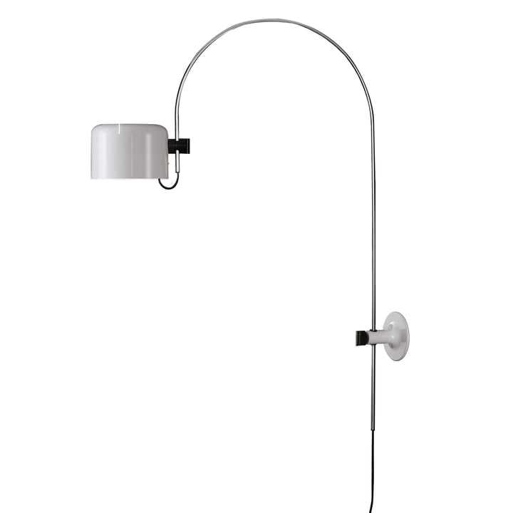 Coupé wall arch lamp 1158, white by Oluce
