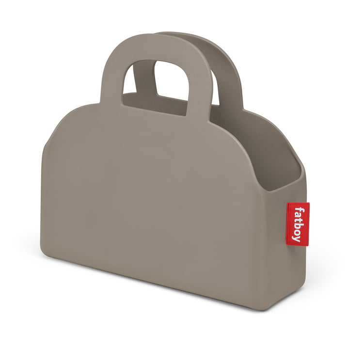 Sjopper-Kees bag and storage basket, taupe by Fatboy