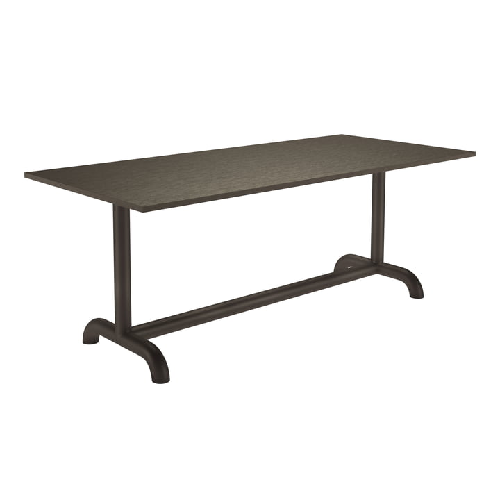 The Unify dining table from Petite Friture , 90 x 200 cm, grey brown