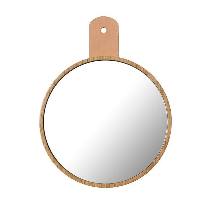 The Q5 Allé mirror from FDB Møbler for wall wardrobe in natural oak
