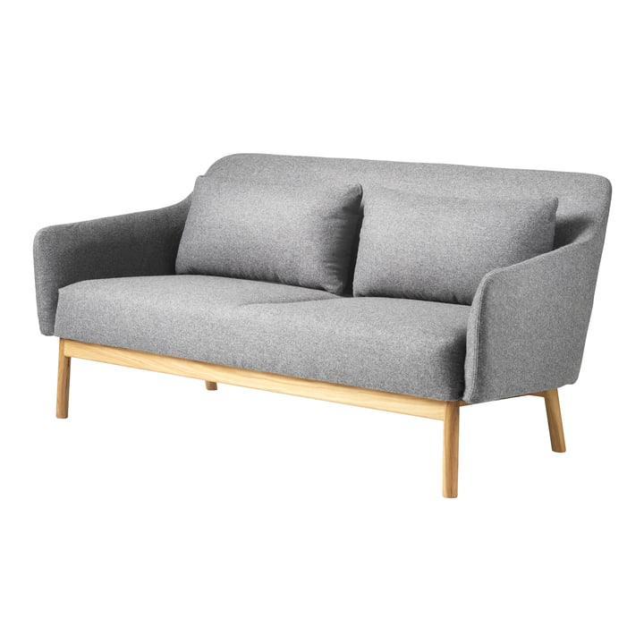 The Gesja 2-seater sofa from FDB Møbler in natural oak / Gray Melange