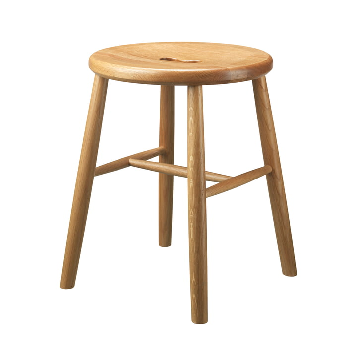 The J27 stool from FDB Møbler in natural oak