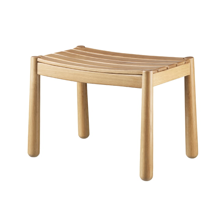 The J170 stool from FDB Møbler in natural oak