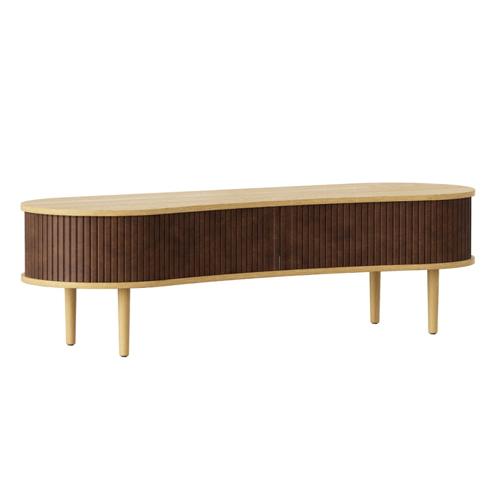 The Audacious TV bench from Umage in oak / hazelnut