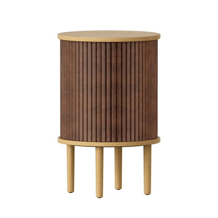 The Audacious side table from Umage with USB connection in oak nature / hazelnut
