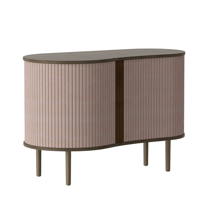 The Audacious chest of drawers from Umage in dark oak / dusty rose