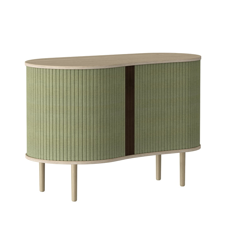The Audacious chest of drawers from Umage in natural oak / spring green