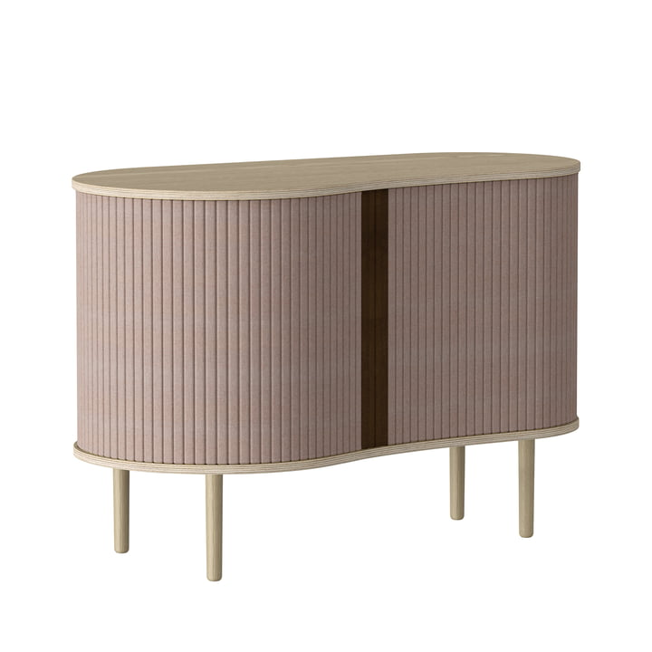 The Audacious chest of drawers from Umage in natural oak / dusty rose
