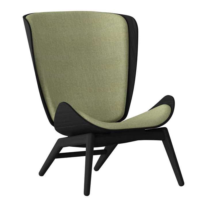 The Reader Armchair from Umage in black / spring green