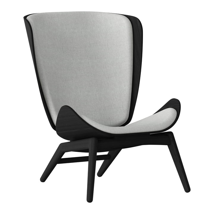The Reader Armchair from Umage in black / silver grey