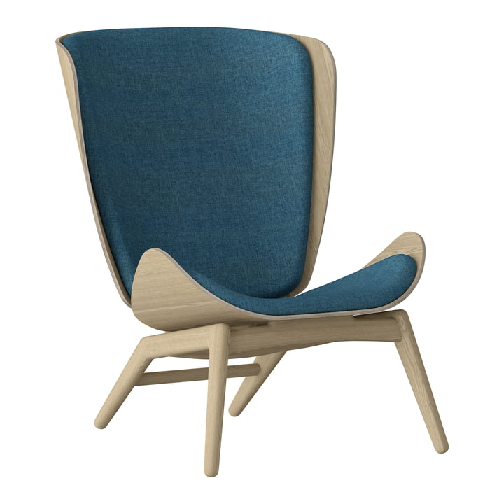 The Reader Armchair from Umage in oak natural / petrol blue