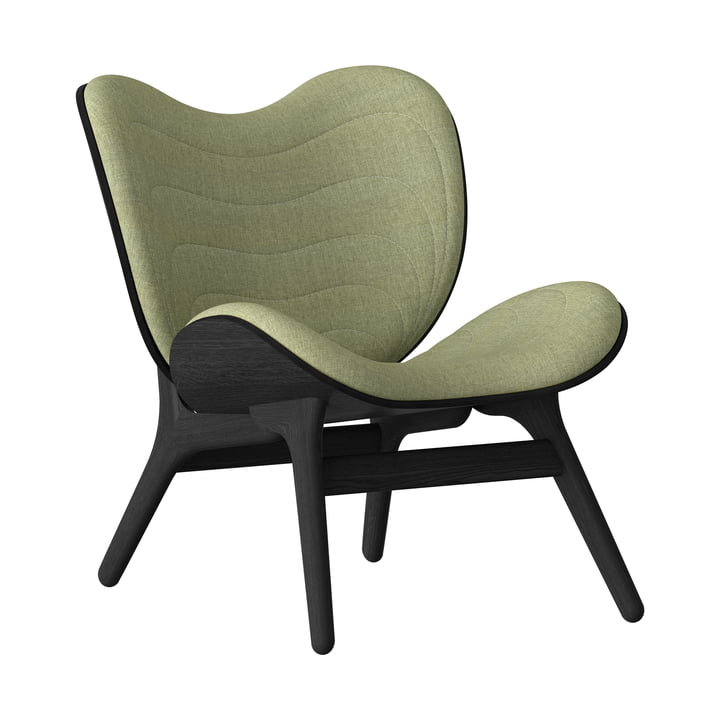 A Conversation Piece Armchair from Umage in black / spring green