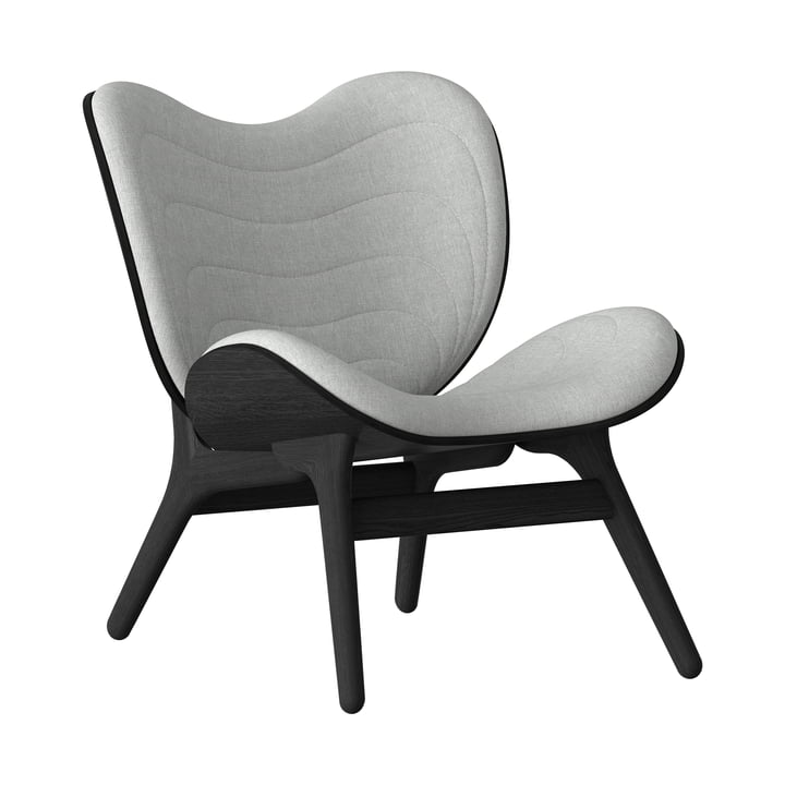 A Conversation Piece Armchair from Umage in black / silver grey