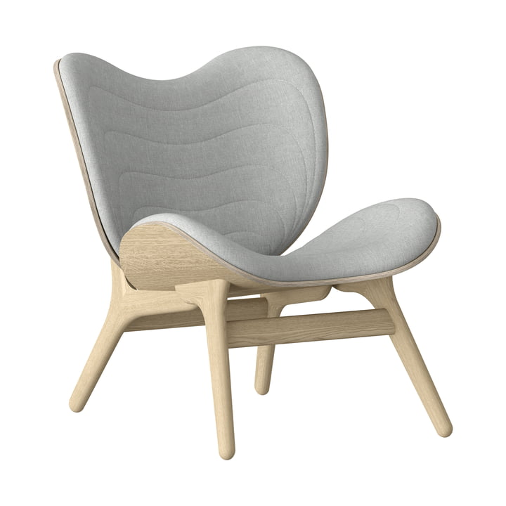 A Conversation Piece Armchair from Umage in natural oak / silver grey