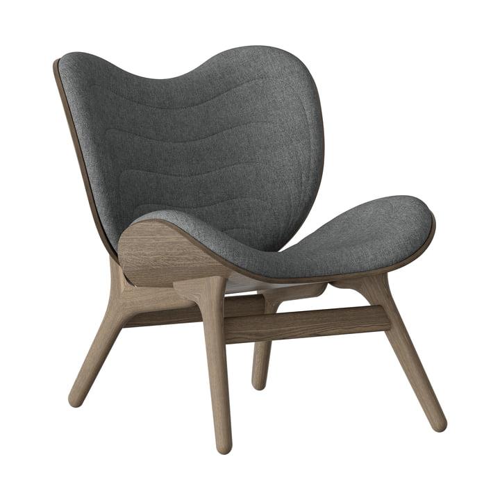 A Conversation Piece Armchair from Umage in dark oak / slate grey