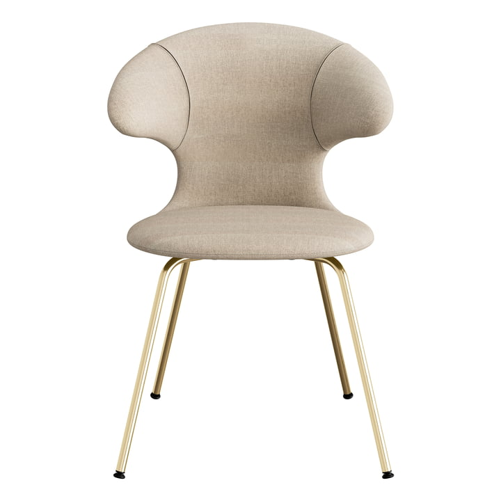 Time Flies Chair from Umage with base brass, sand / sand