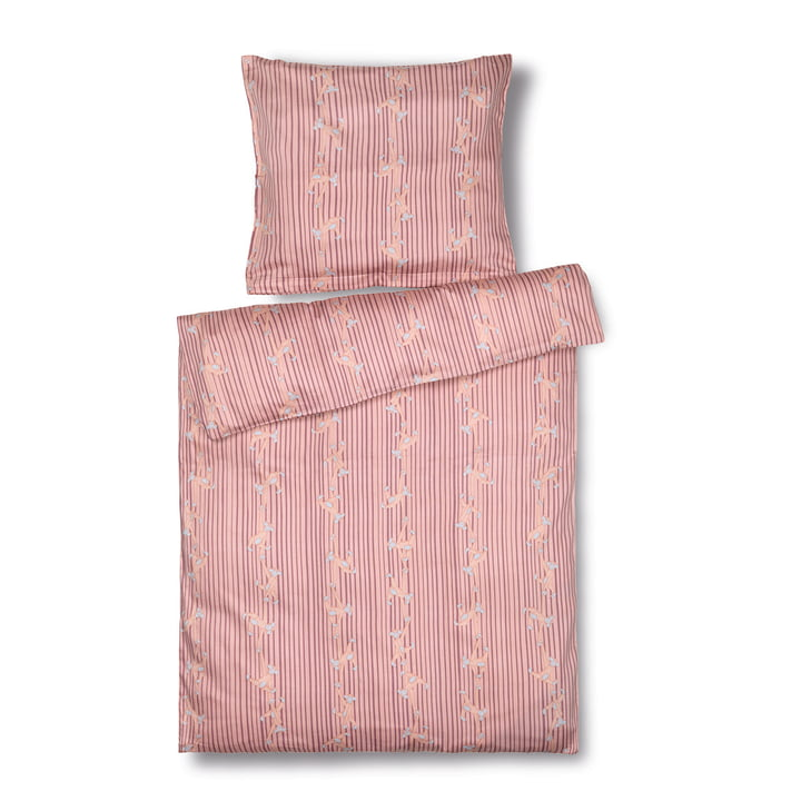 Monkey Children's bed linen Junior, 100 x 140 cm, pink from Kay Bojesen
