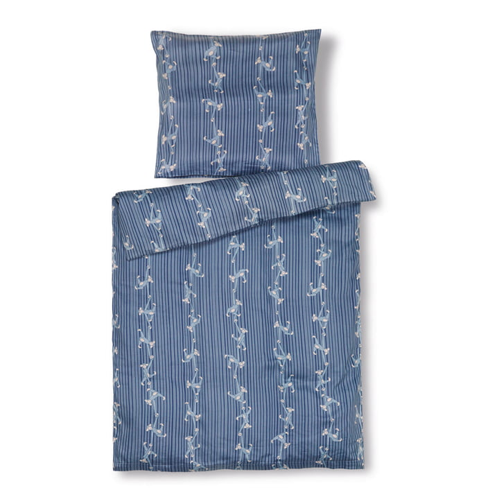Monkey Children's bed linen Junior, 100 x 140 cm, blue from Kay Bojesen