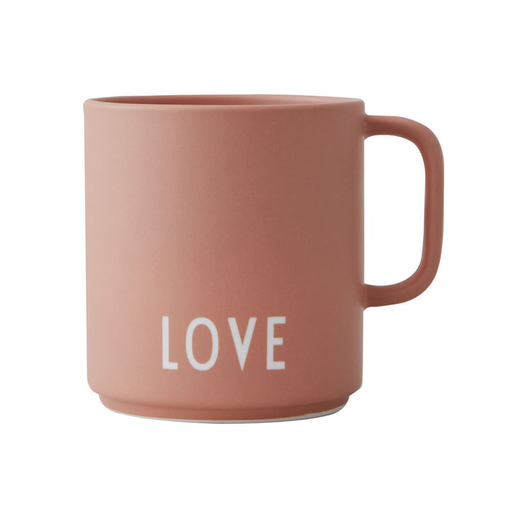 The AJ Favourite porcelain mug from Design Letters in Love / nude