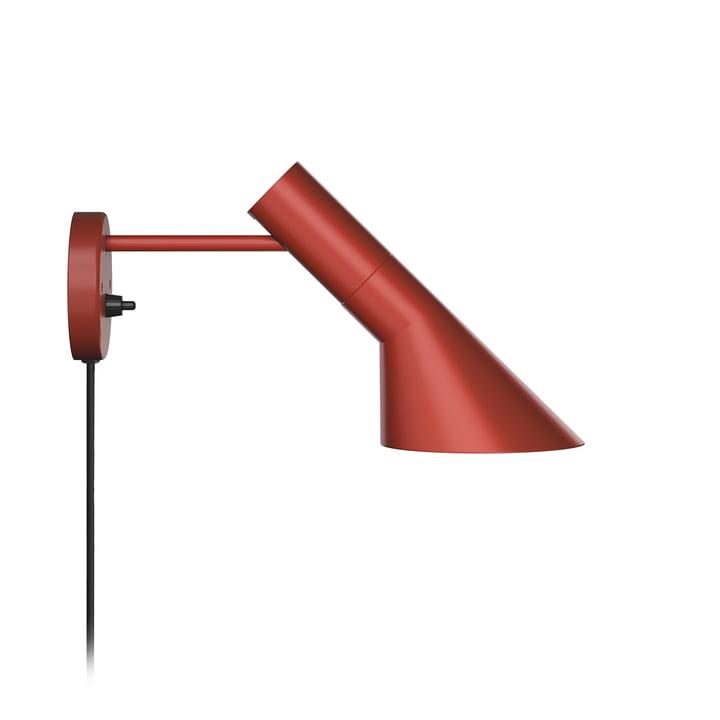 AJ wall lamp from Louis Poulsen in rust red