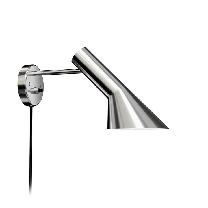 AJ wall lamp of Louis Poulsen stainless steel