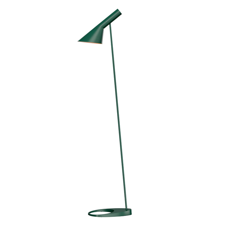 AJ floor lamp from Louis Poulsen in dark green