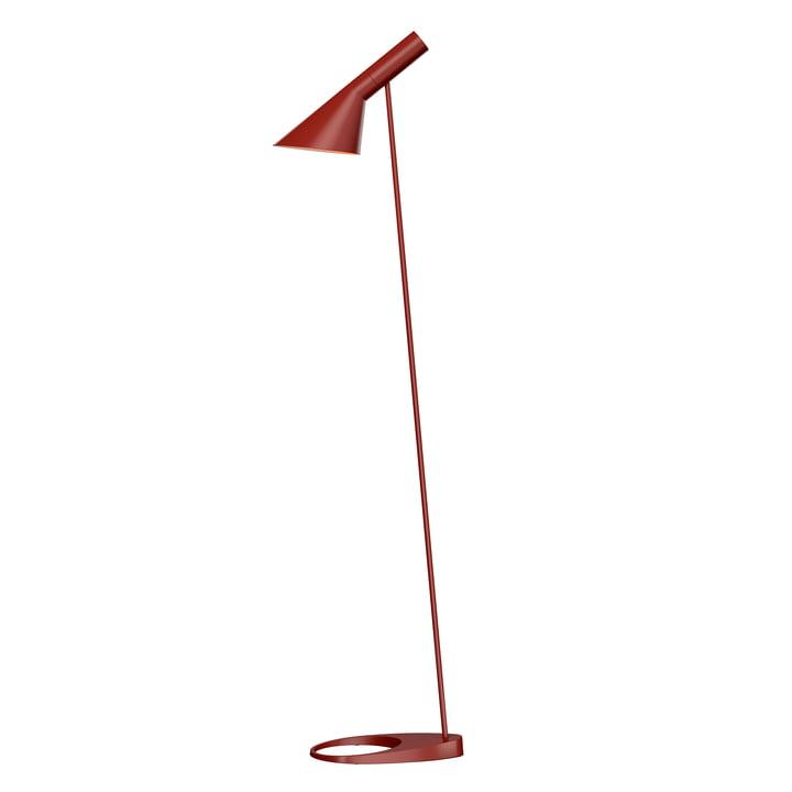 AJ floor lamp from Louis Poulsen in rust-red