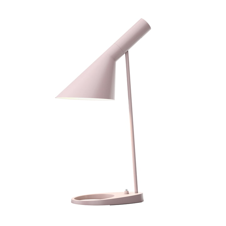 AJ table lamp from Louis Poulsen in pale pink