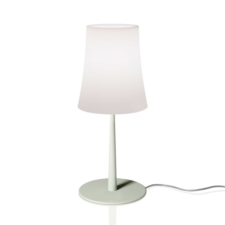 The Birdie Easy table lamp from Foscarini in sage green
