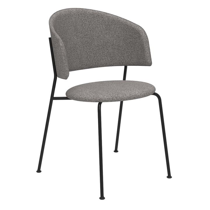 The Wagner Dining Chair from Objekte unserer Tage in black / Mainline Flax (stone grey)