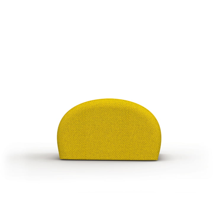 The Levi pouf of Objekte unserer Tage in yellow-black, Kvadrat Coda 2