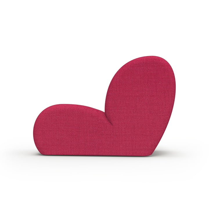 The Levi lounge chair from Objekte unserer Tage in pink, Kvadrat Atlas