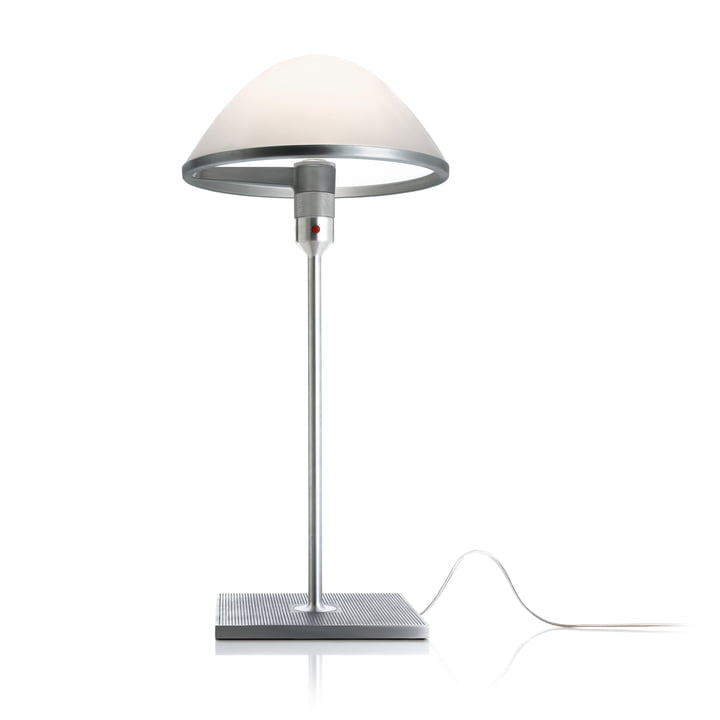 The Miranda D60 table lamp from Luceplan in aluminium / opal glass