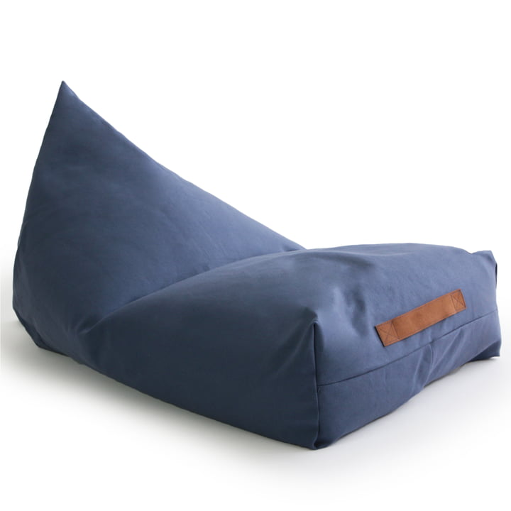 The Oasis child beanbag from Nobodinoz in aegean blue