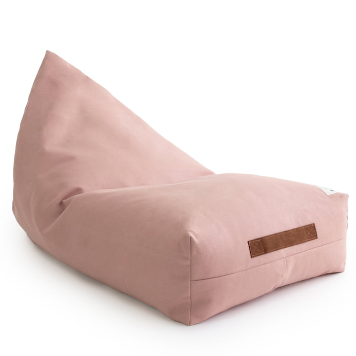 The Oasis child beanbag from Nobodinoz in bloom pink