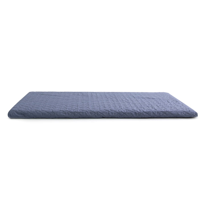 The Monaco play mattress from Nobodinoz in aegean blue