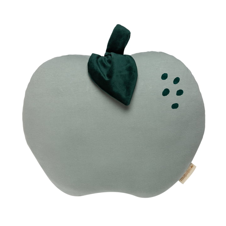 The Apple cushion from Nobodinoz in antique green